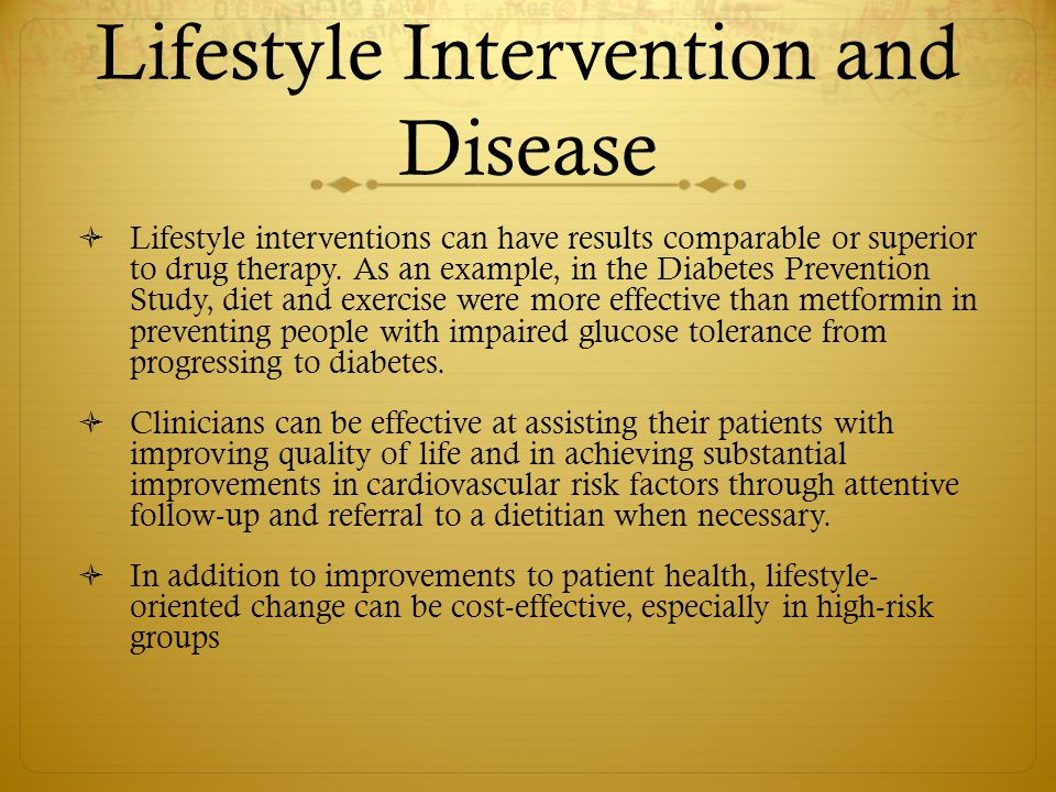 Lifestyle Intervention and Disease
