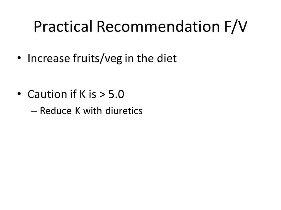 Practical Recommendation F/V
