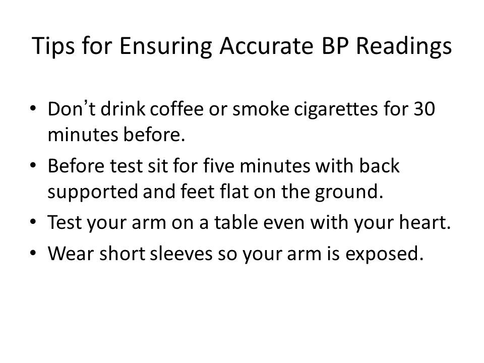 Tips for Ensuring Accurate BP Readings