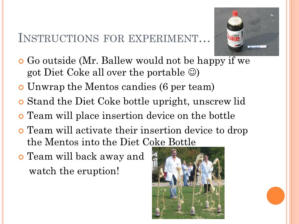 Instructions for experiment…