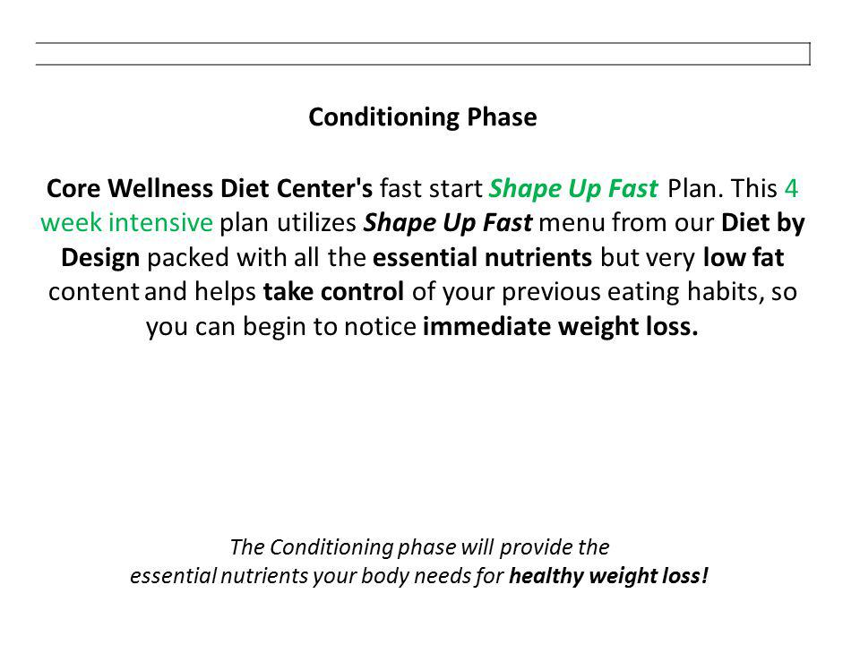 Conditioning Phase