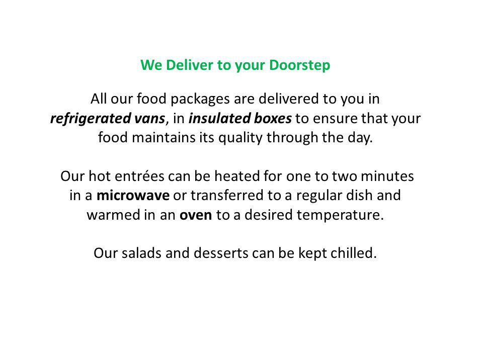 We Deliver to your Doorstep