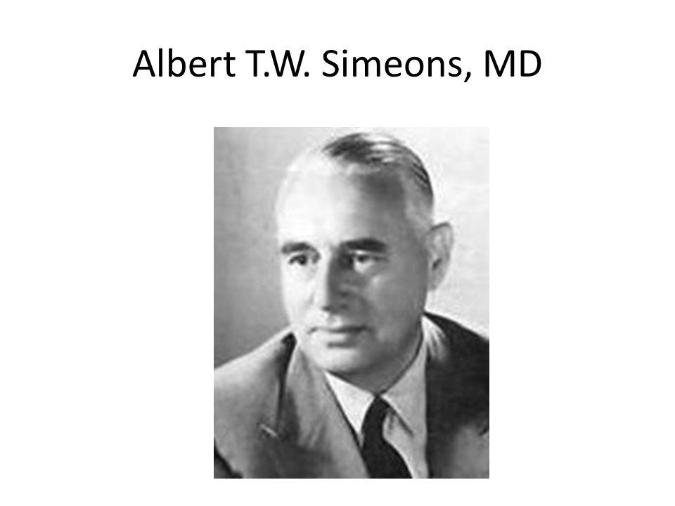 Albert T.W. Simeons, MD