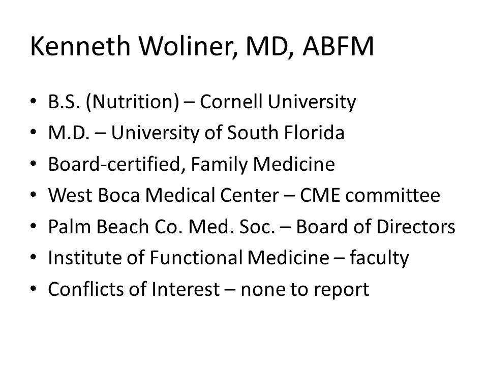 Kenneth Woliner, MD, ABFM
