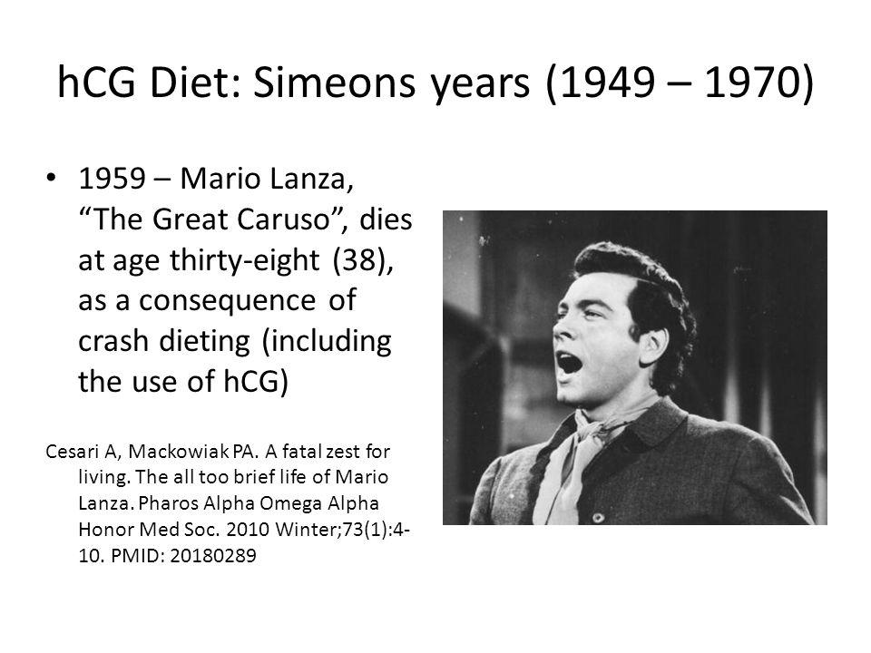 hCG Diet: Simeons years (1949 – 1970)