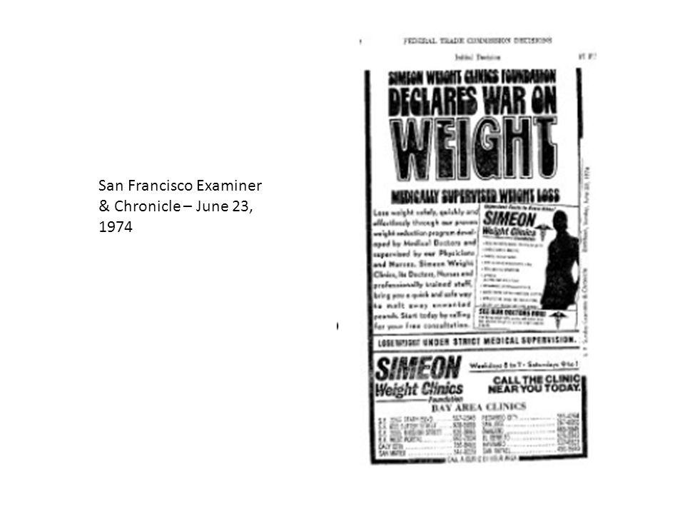 San Francisco Examiner & Chronicle – June 23, 1974