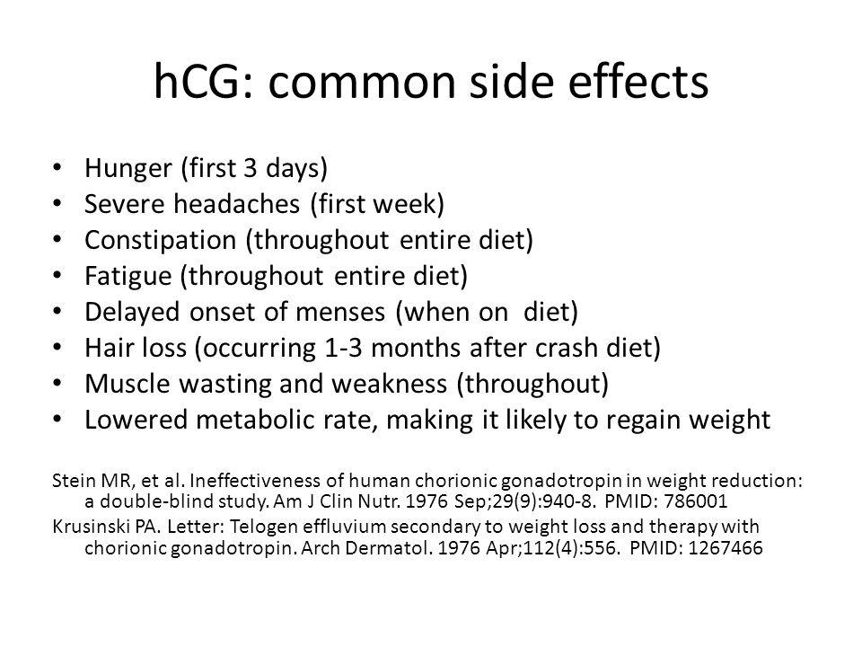hCG: common side effects