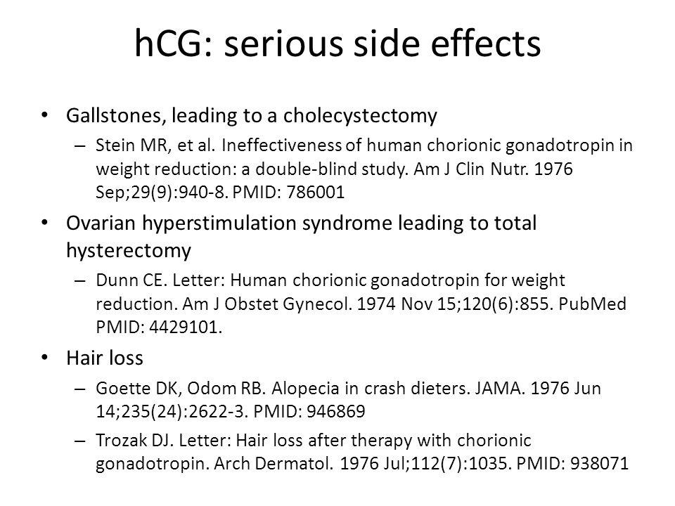 hCG: serious side effects