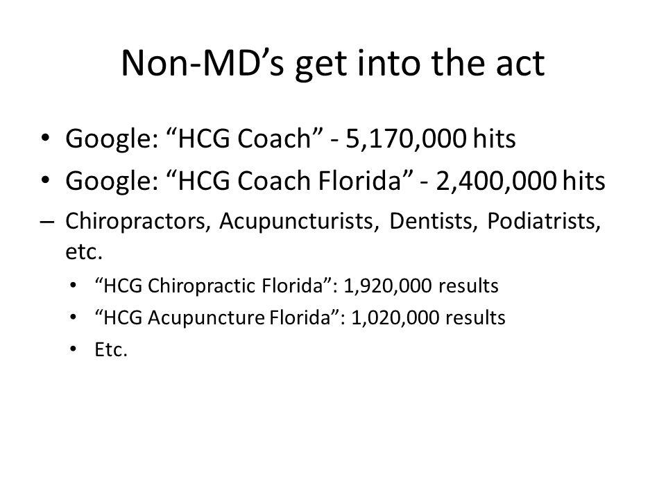 Non-MD's get into the act
