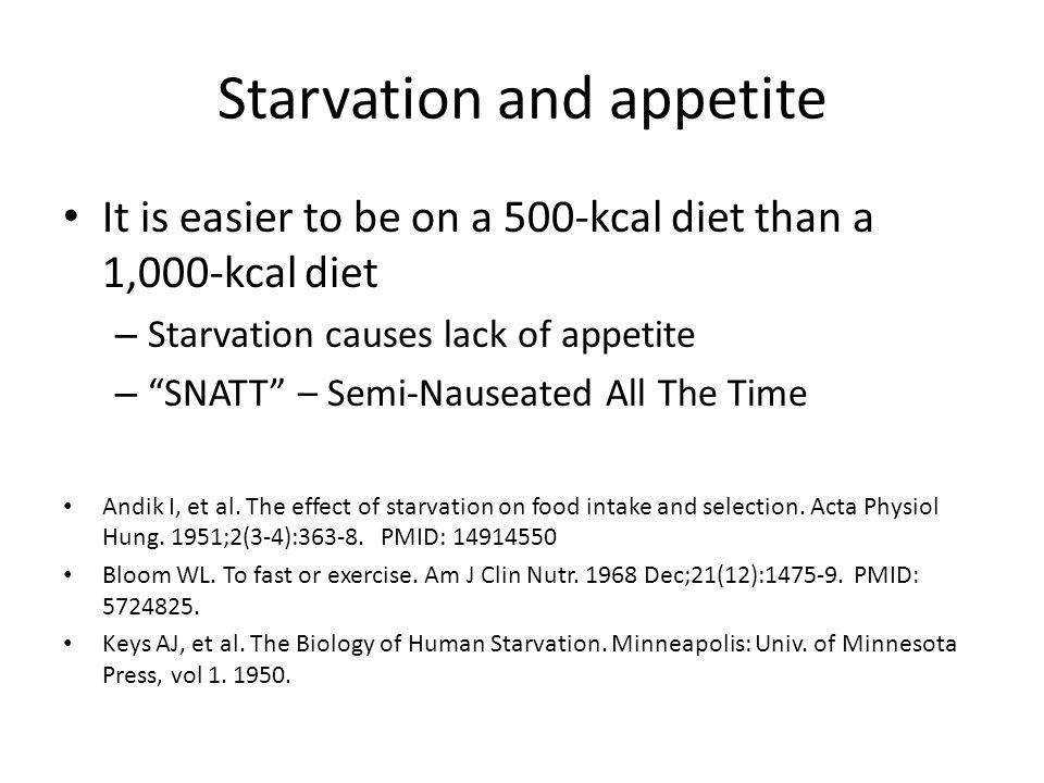 Starvation and appetite
