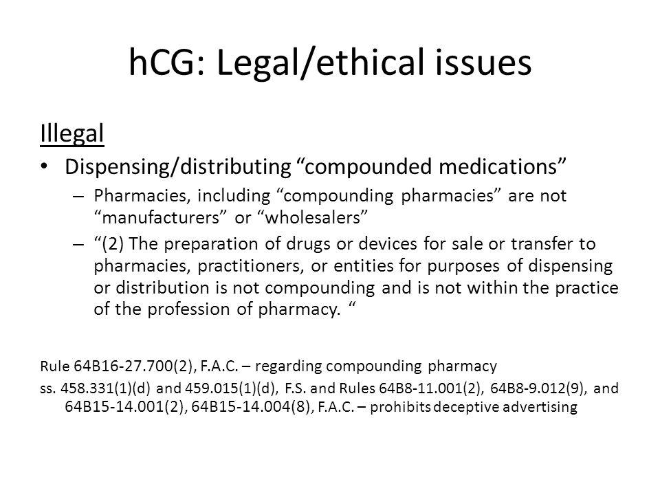 hCG: Legal/ethical issues