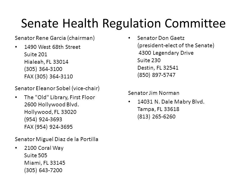 Senate Health Regulation Committee