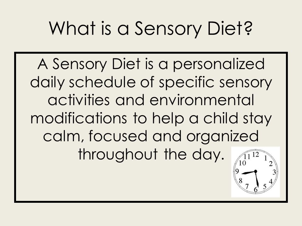 What is a Sensory Diet