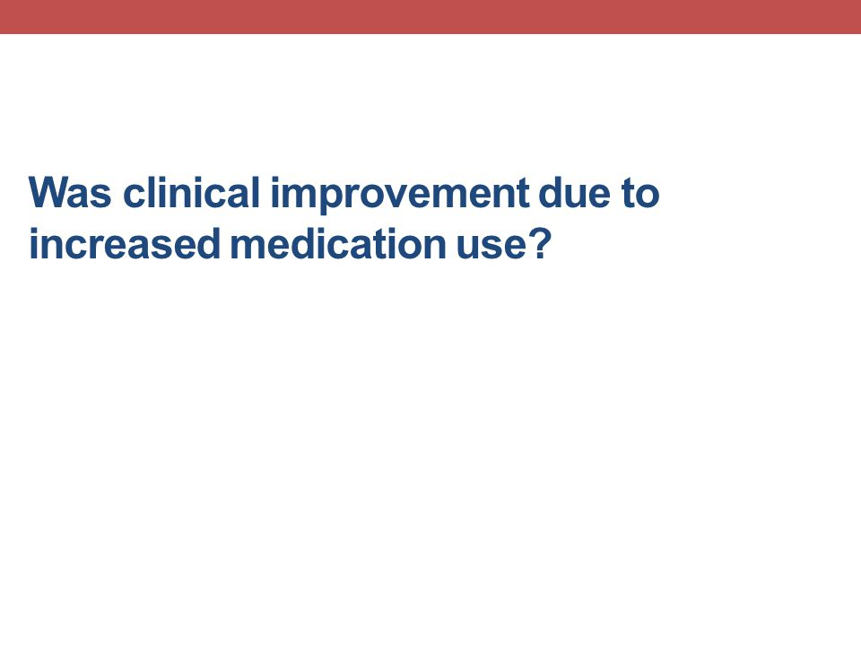Was clinical improvement due to increased medication use