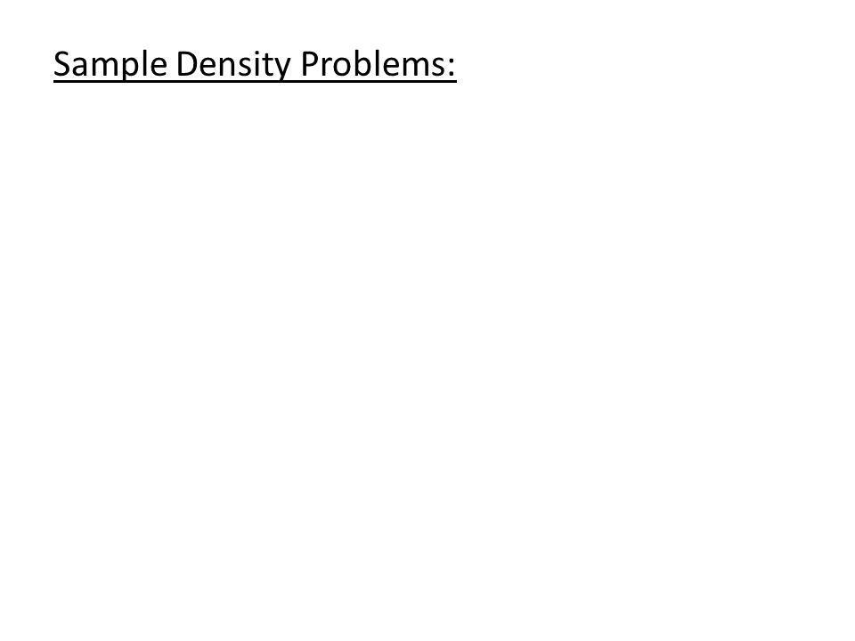 Sample Density Problems: