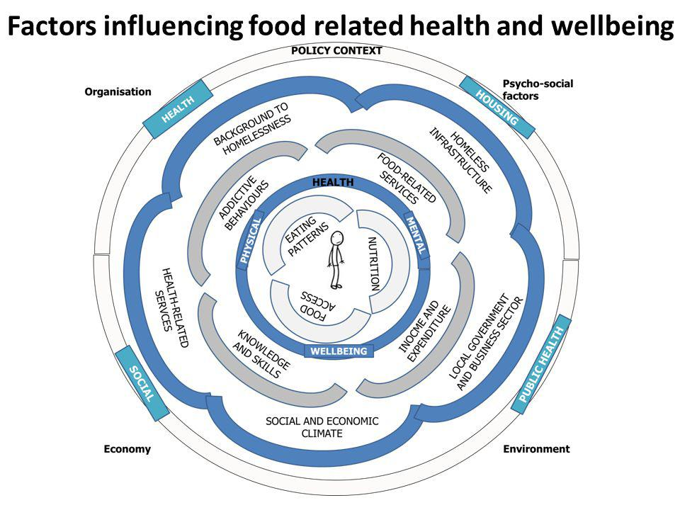 Factors influencing food related health and wellbeing