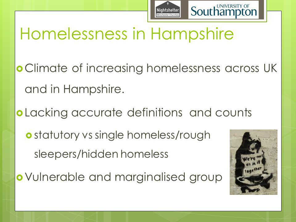 Homelessness in Hampshire