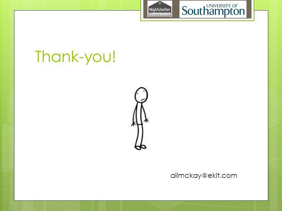 Thank-you! alimckay@ekit.com