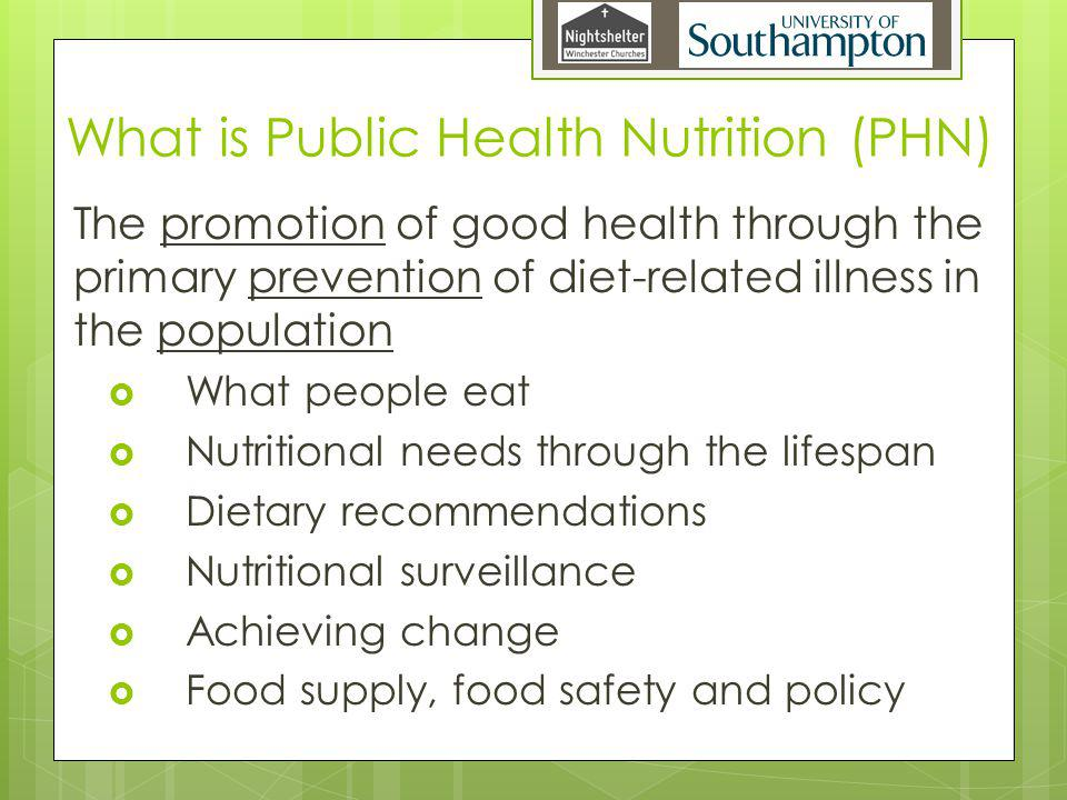 What is Public Health Nutrition (PHN)