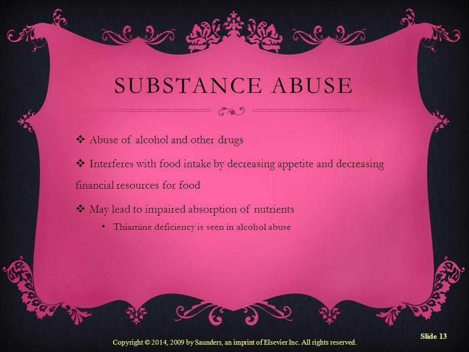 Substance Abuse Abuse of alcohol and other drugs