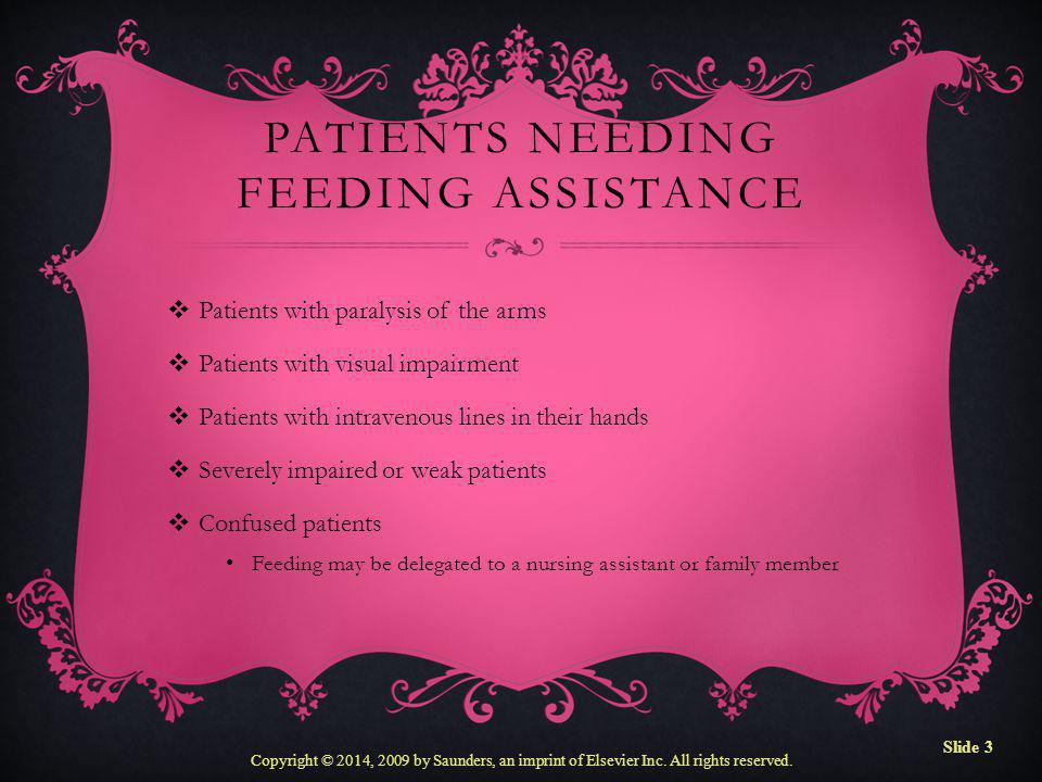 Patients Needing Feeding Assistance