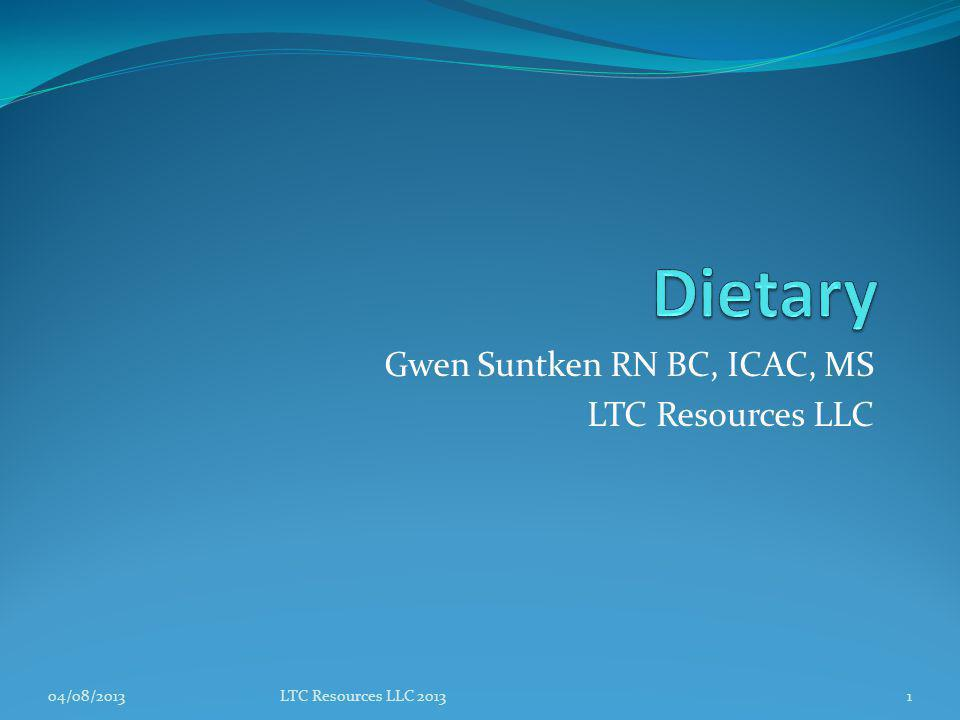 Gwen Suntken RN BC, ICAC, MS LTC Resources LLC