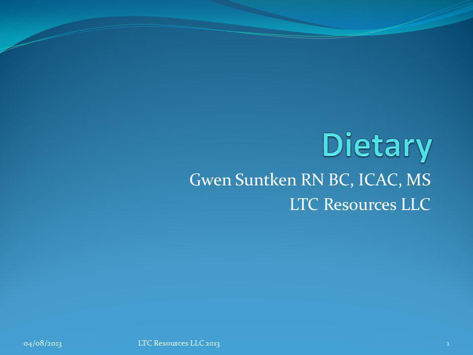 Gwen Suntken RN BC, ICAC, MS LTC Resources LLC