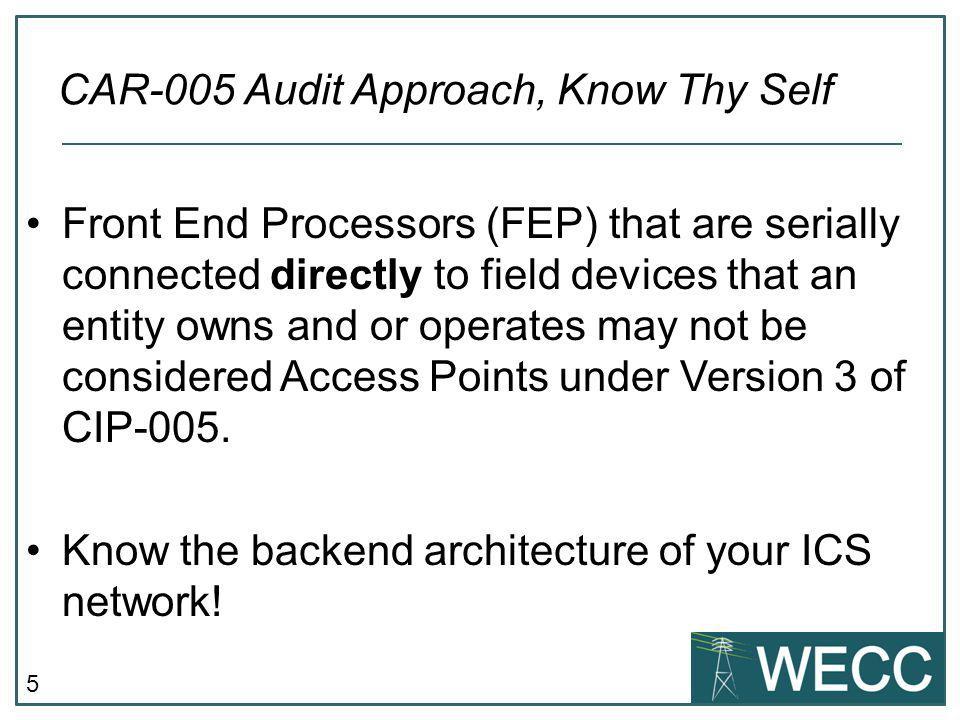 CAR-005 Audit Approach, Know Thy Self