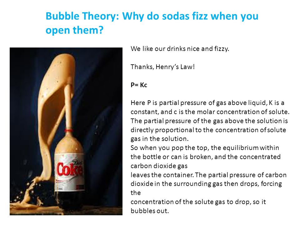 Bubble Theory: Why do sodas fizz when you open them