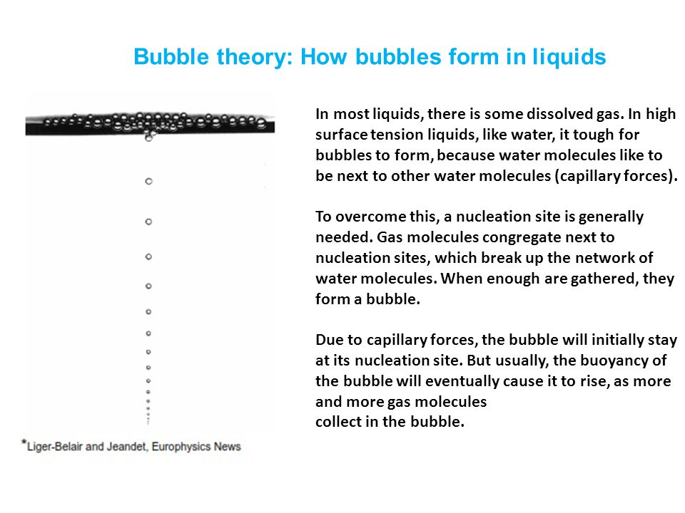 Bubble theory: How bubbles form in liquids