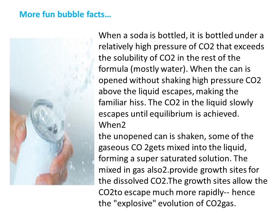 More fun bubble facts…
