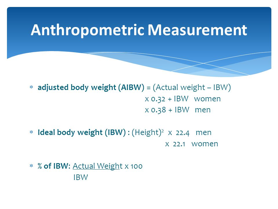 Anthropometric Measurement