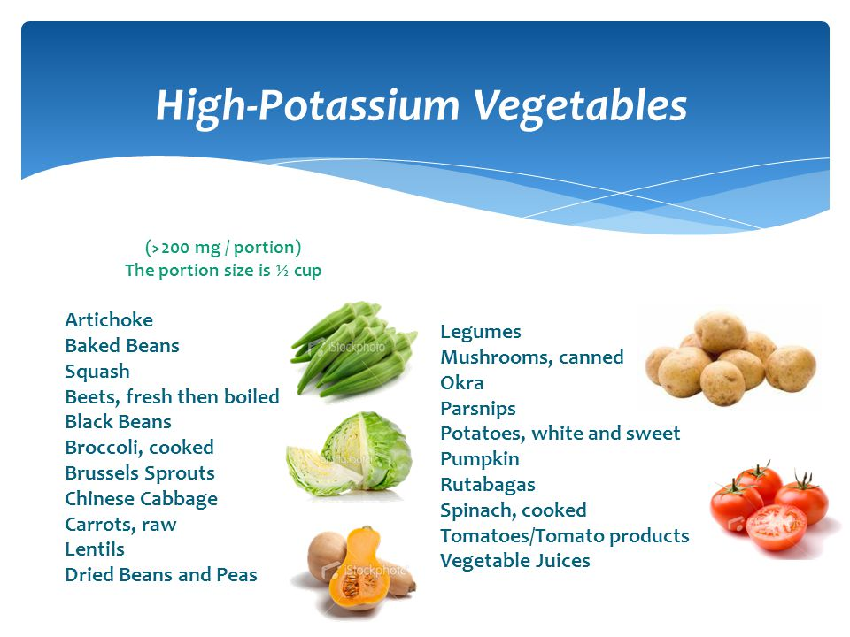 High-Potassium Vegetables