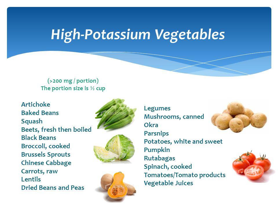 High-Potassium Vegetables