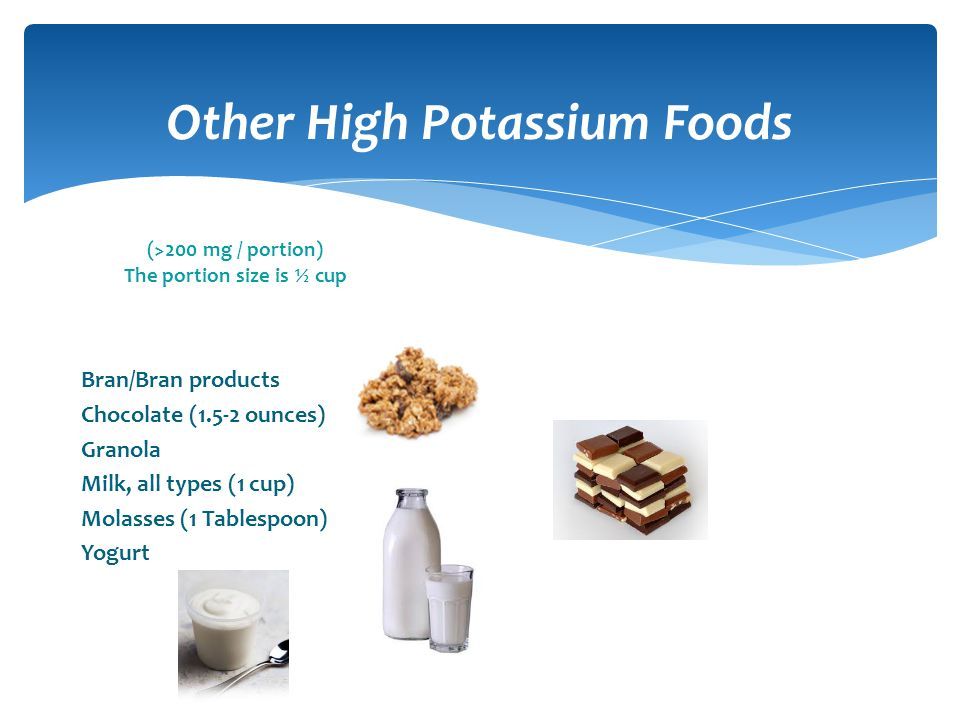 Other High Potassium Foods