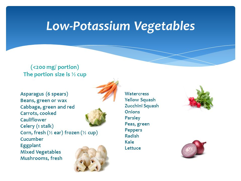 Low-Potassium Vegetables