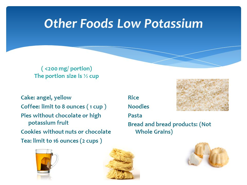 Other Foods Low Potassium