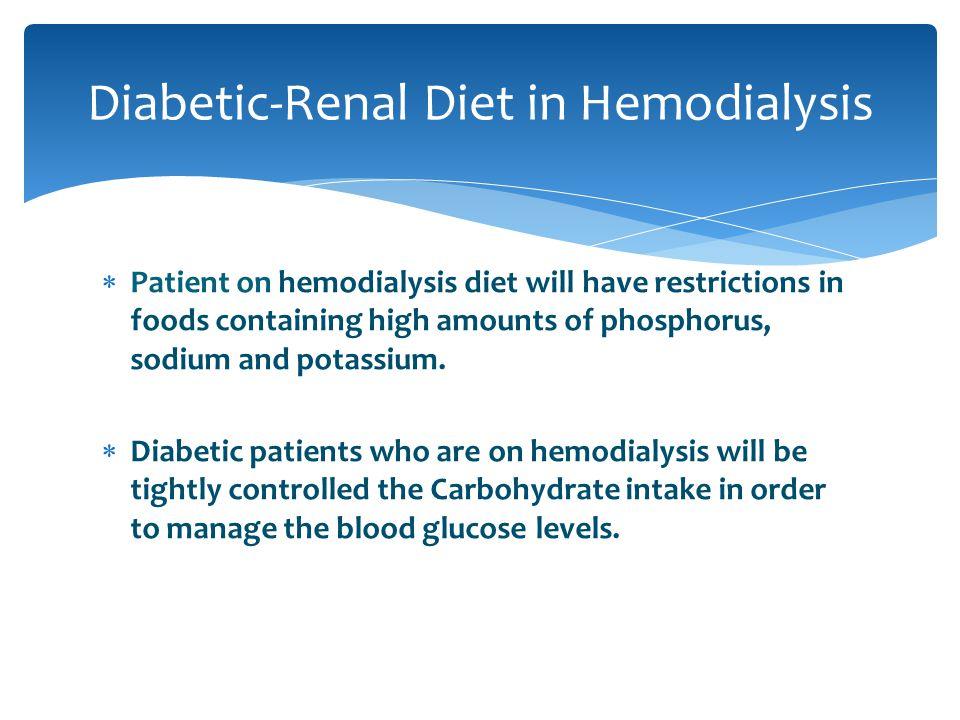 Diabetic-Renal Diet in Hemodialysis