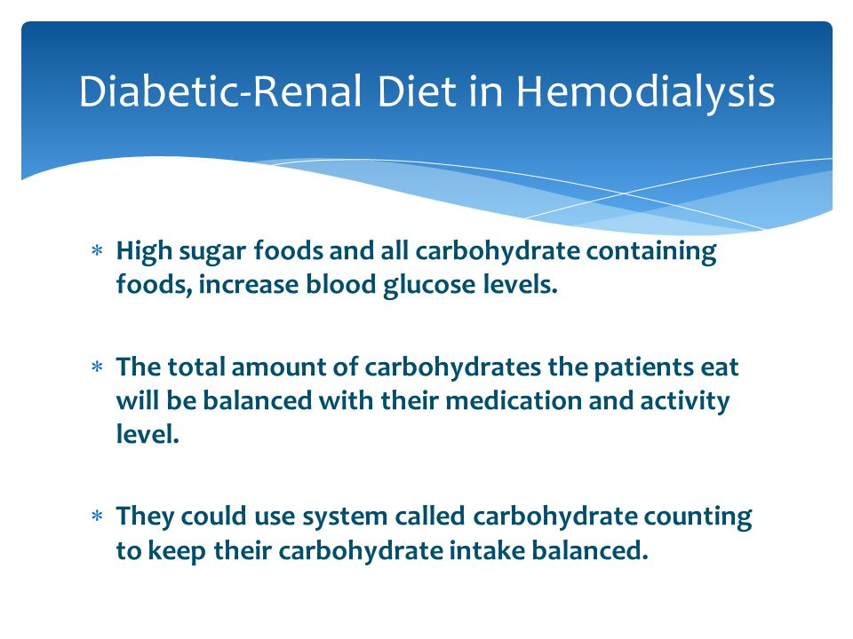 Diabetic-Renal Diet in Hemodialysis