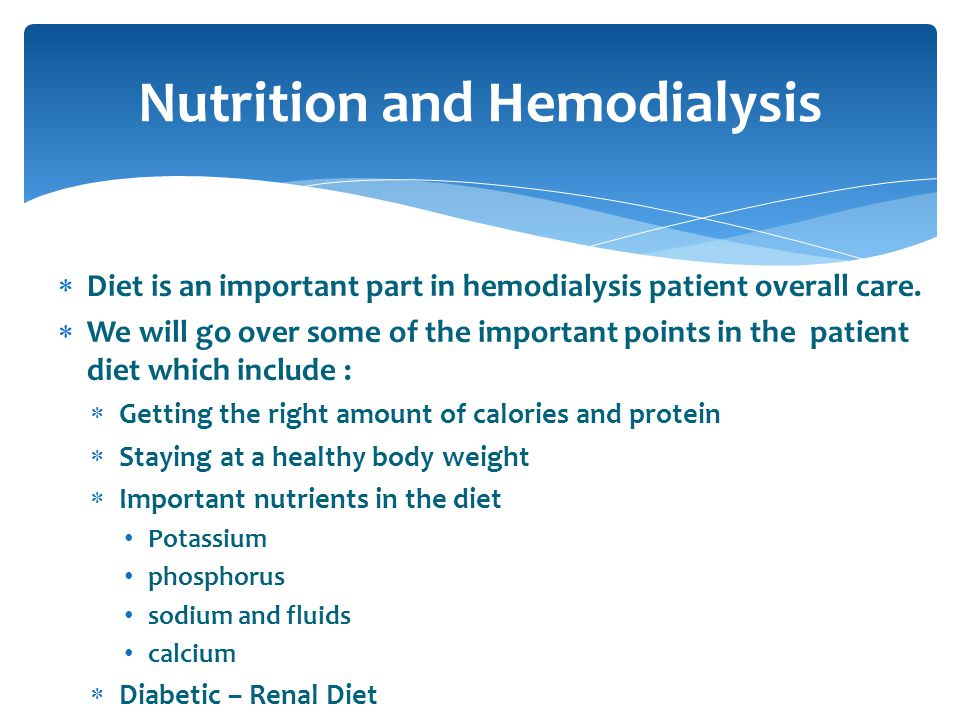Nutrition and Hemodialysis