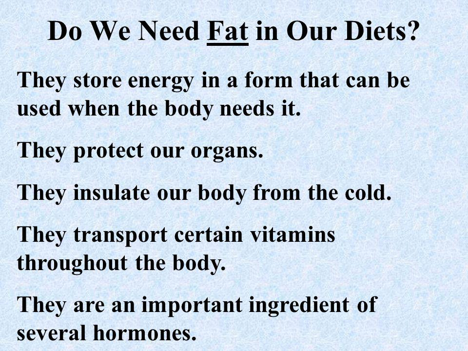 Do We Need Fat in Our Diets