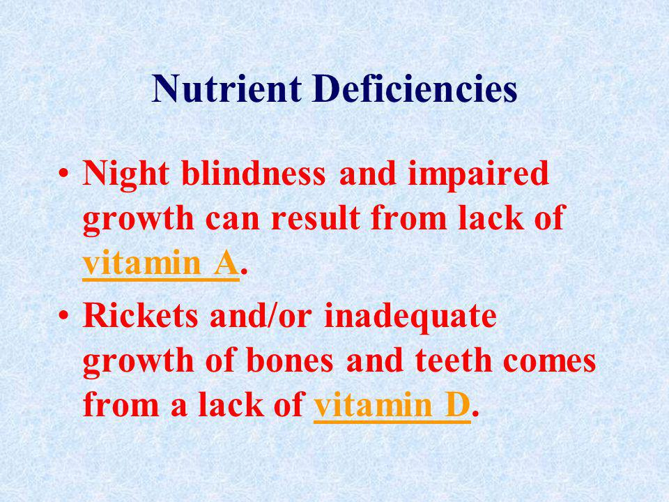 Nutrient Deficiencies