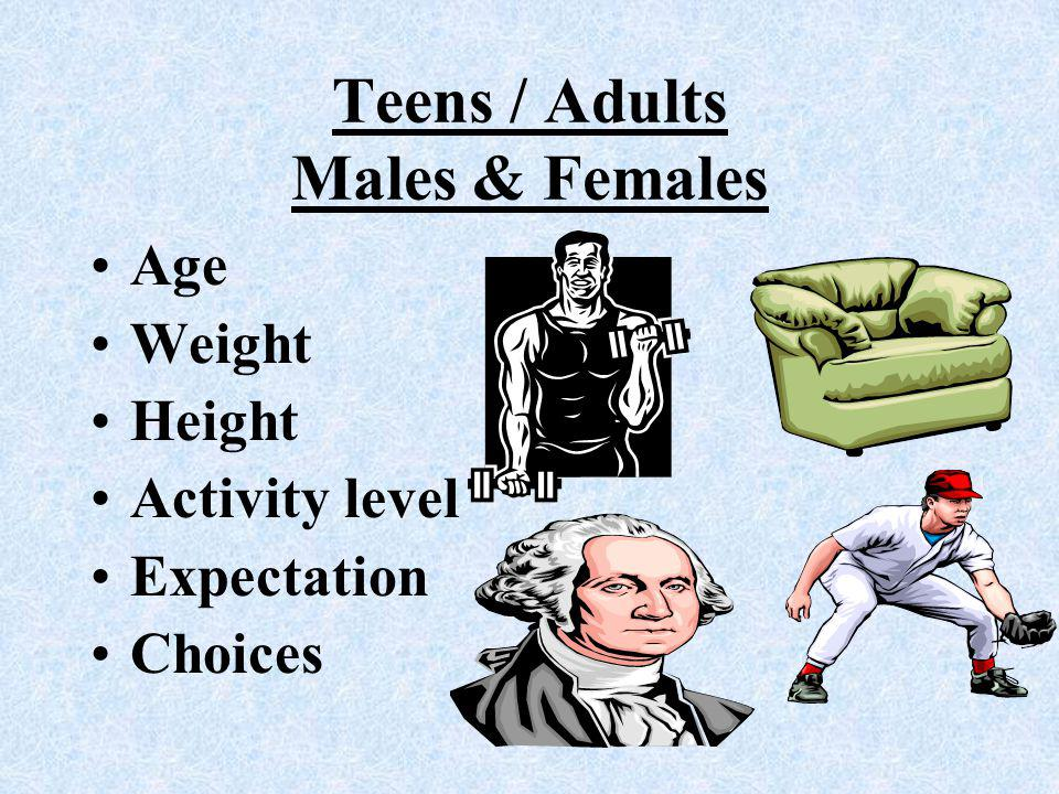 Teens / Adults Males & Females
