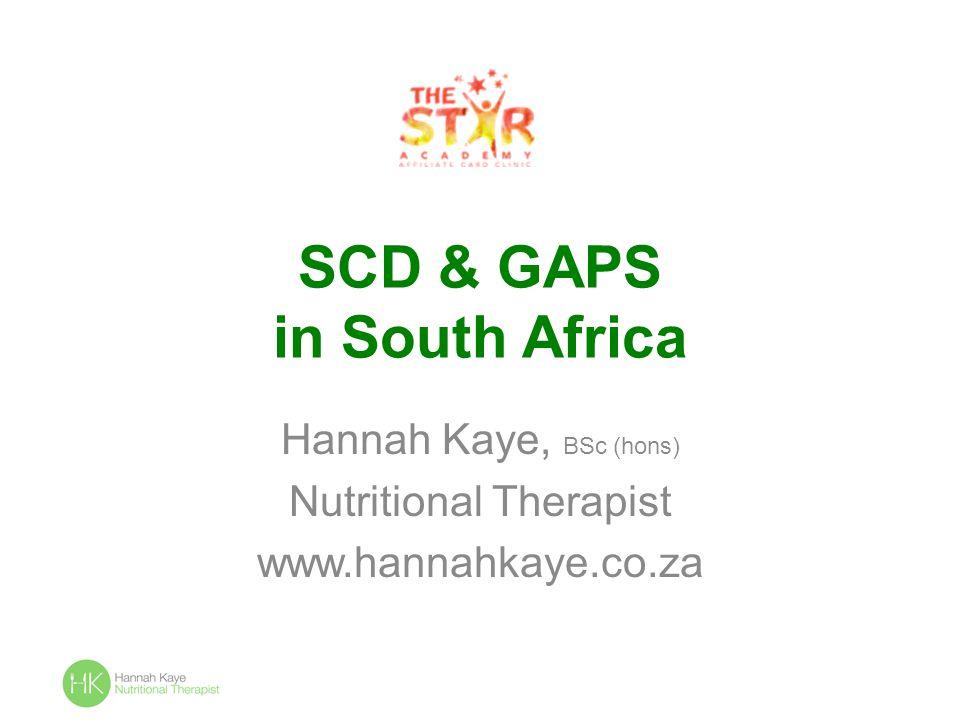 SCD & GAPS in South Africa