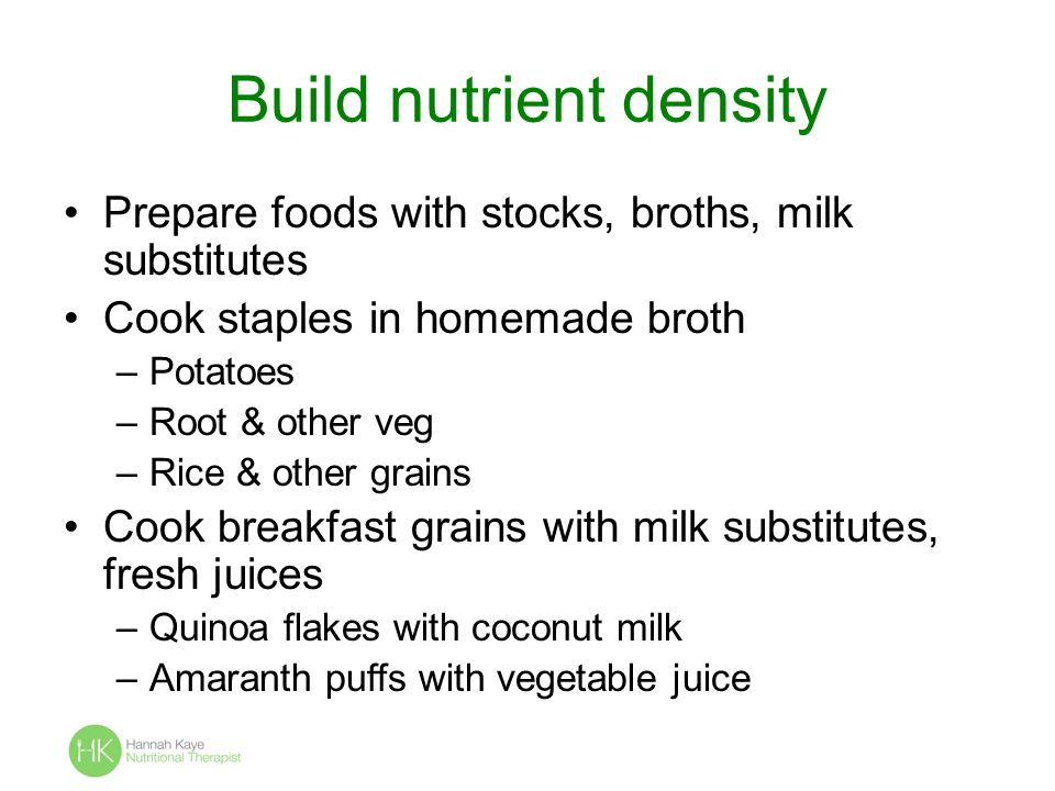 Build nutrient density
