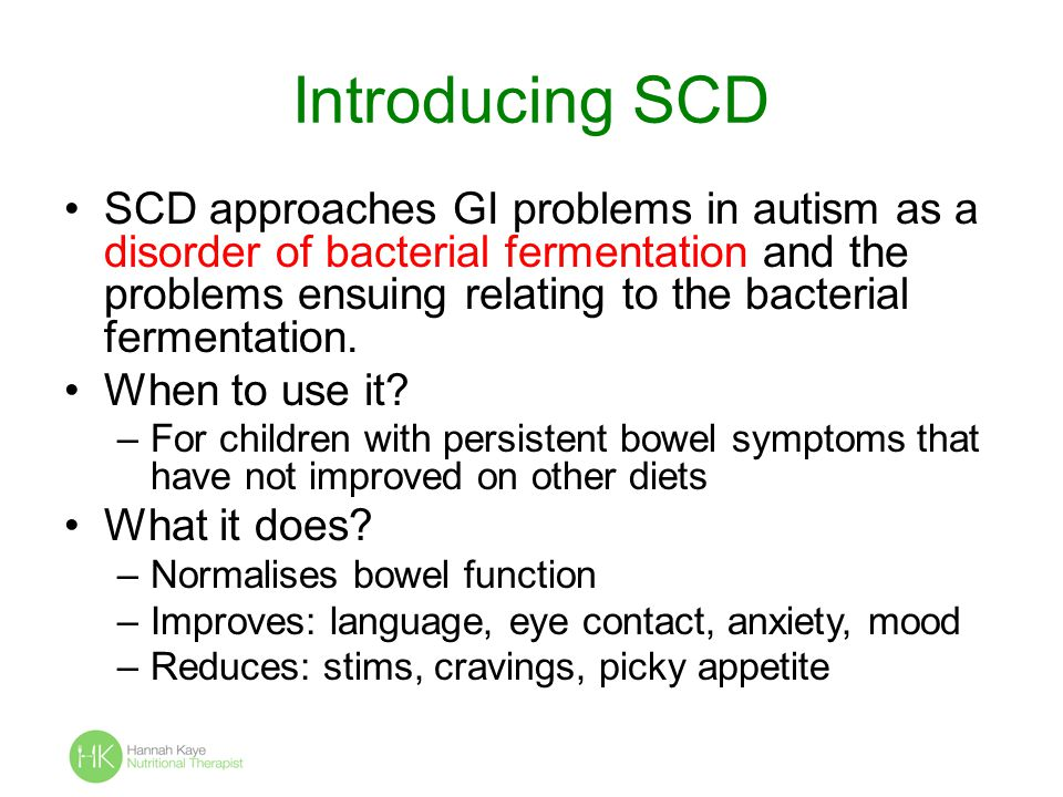 Introducing SCD