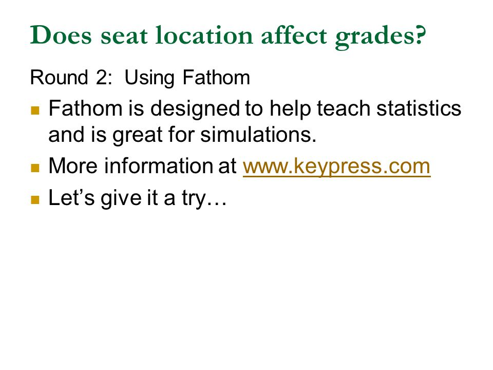 Does seat location affect grades