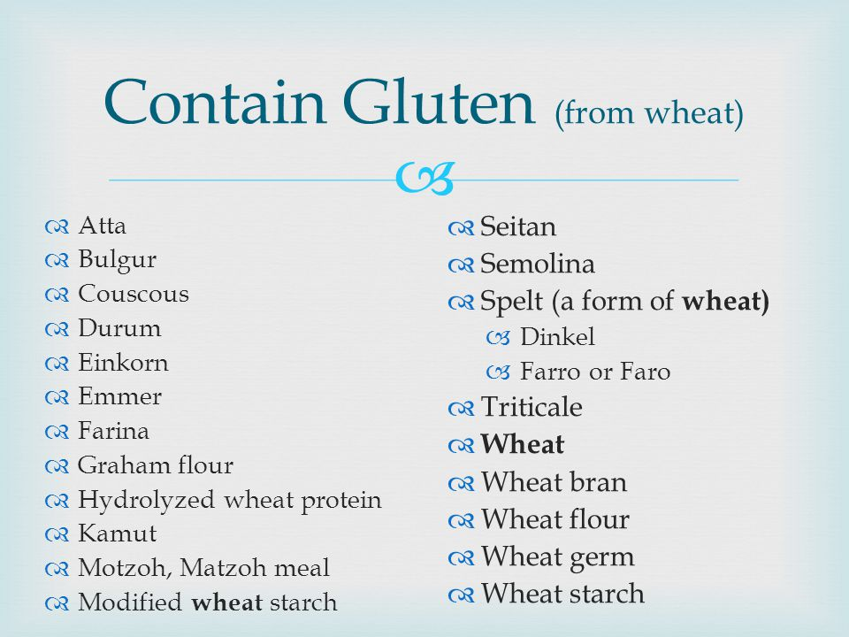 Contain Gluten (from wheat)