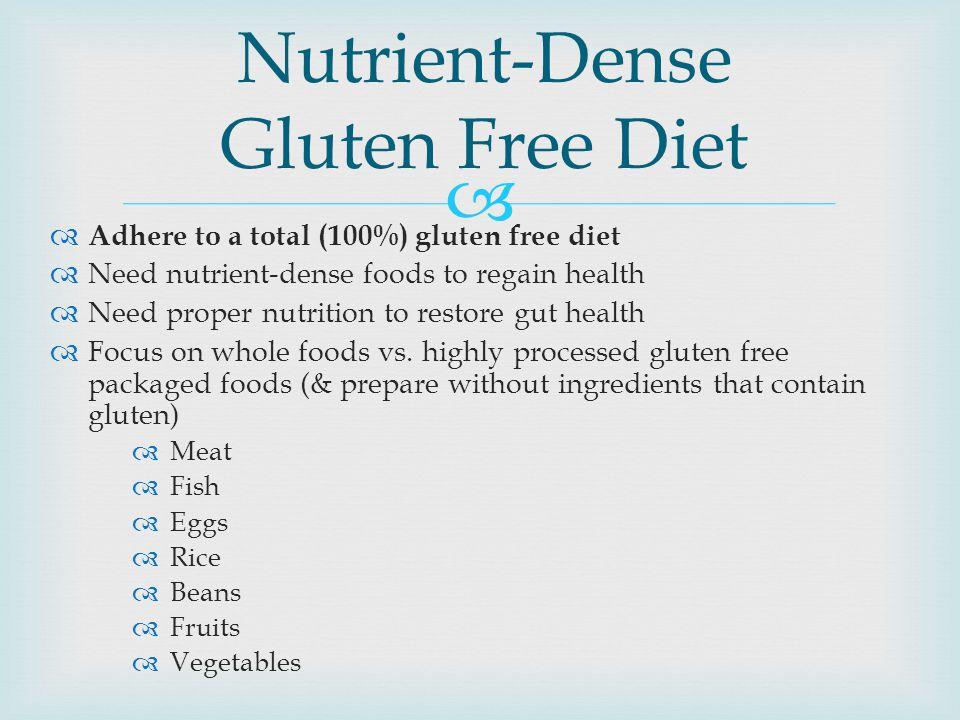 Nutrient-Dense Gluten Free Diet