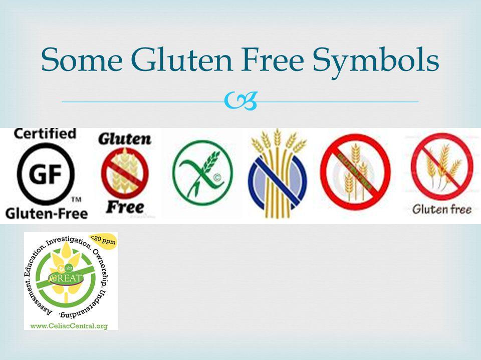Some Gluten Free Symbols